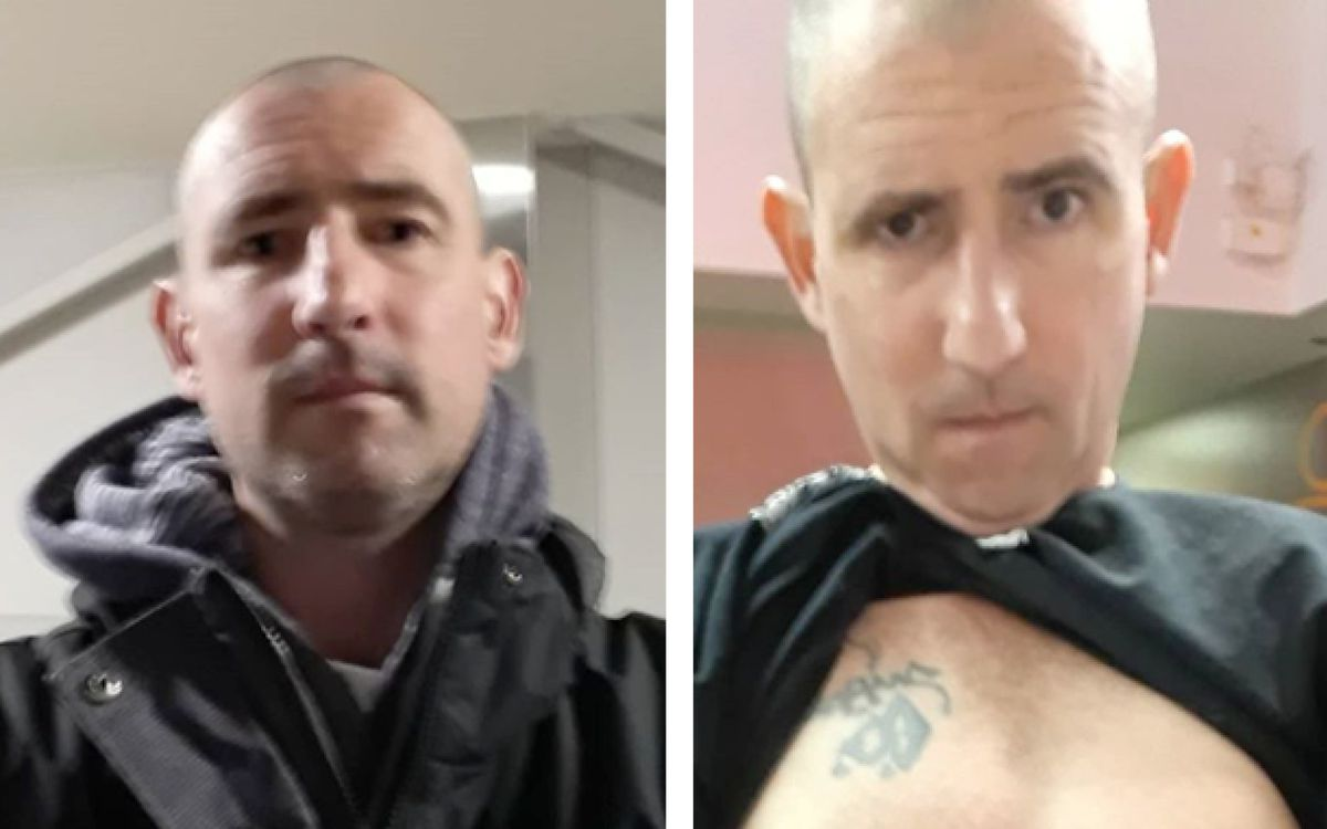 Anchorage police released these photos of Nathaniel D. Kinsman, 44, who they named as the suspect in a sexual assault that occurred at Connors Bog Park on Sunday, June 7, 2020. (Photos courtesy APD)
