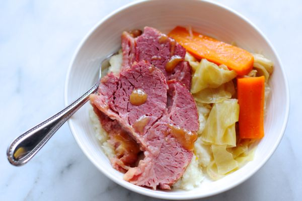 Crockpot corned beef and cabbage with honey Dijon glaze (Maya Wilson / Alaska from Scratch)