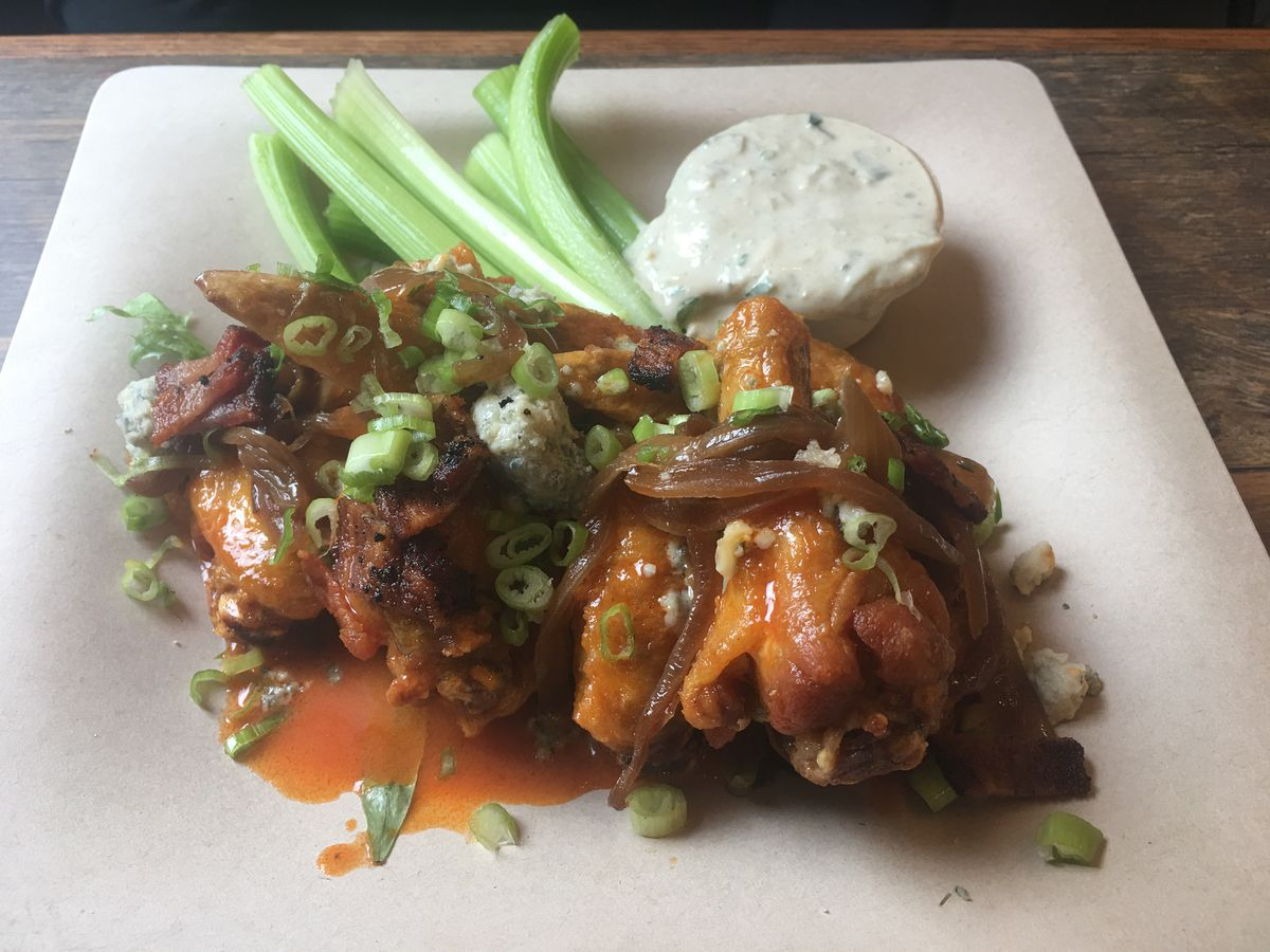 Chicken wings at Froth & Forage, located off the Seward Highway in Indian. (Photo by Mara Severin)