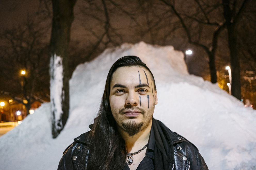 Chef George Lenser, a member of the Nisga'a Nation in northern British Columbia, in Montreal, Quebec, Canada, Jan. 10, 2018. Lenser is on a mission with other cooks and scholars to excavate and codify recipes and ingredients that disappeared when their ancestors were forcibly assimilated. (Renaud Philippe/The New York Times)