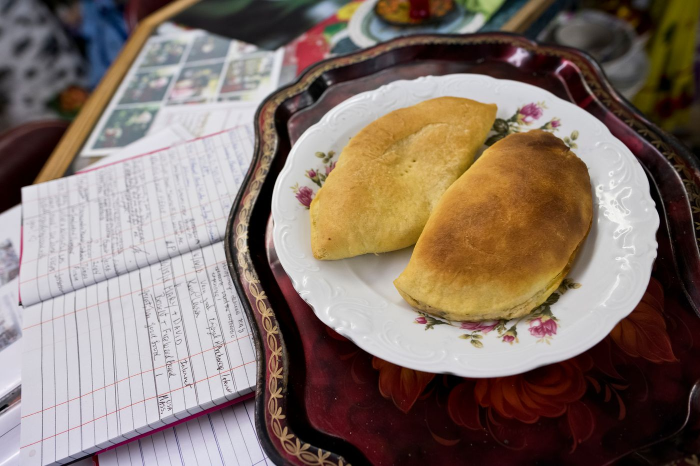 A potato and cheese pierogi is served at Samovar Cafe. (Marc Lester / ADN)