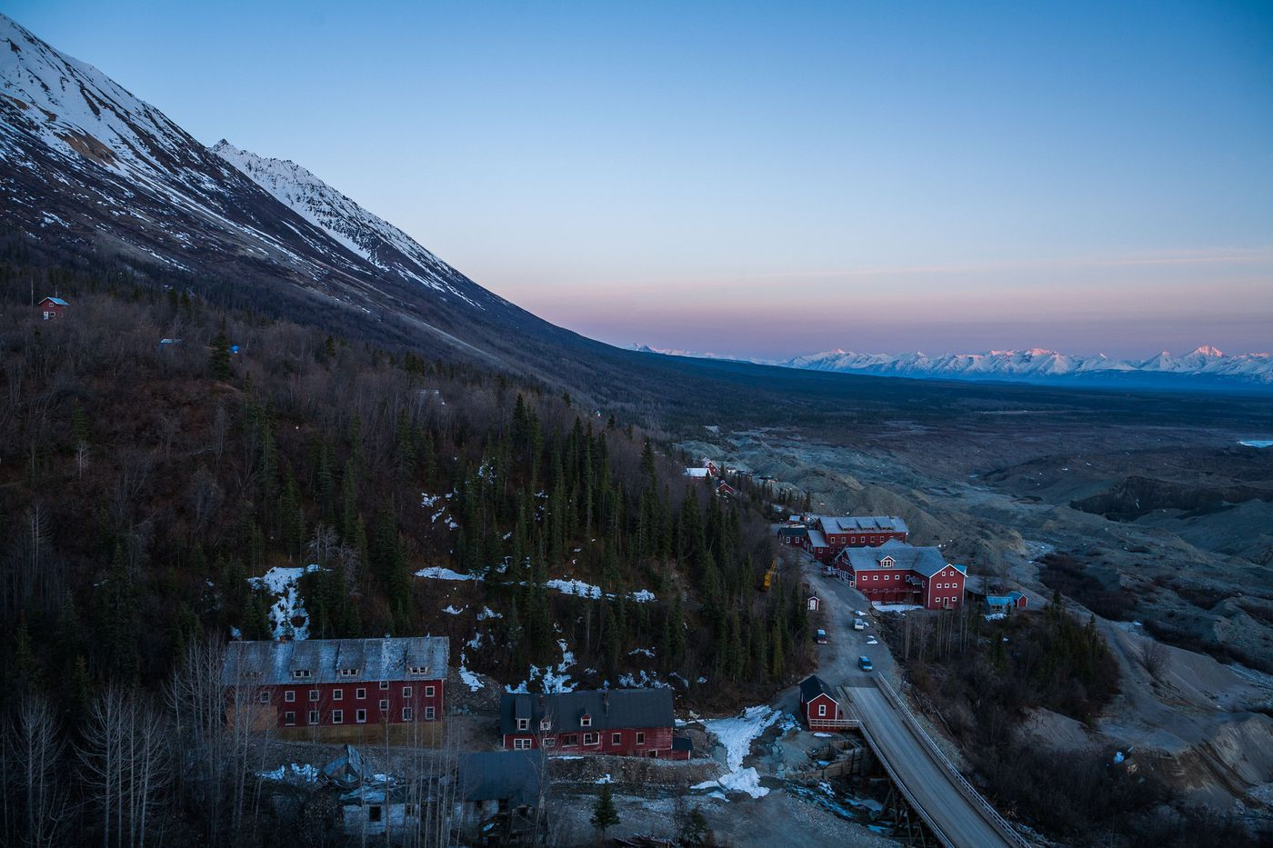 Sunset over Kennecott Mines National Historic Landmark, located near McCarthy in Wrangell-St. Elias National Park and Preserve on May 15, 2011. (Loren Holmes / Alaska Dispatch News)