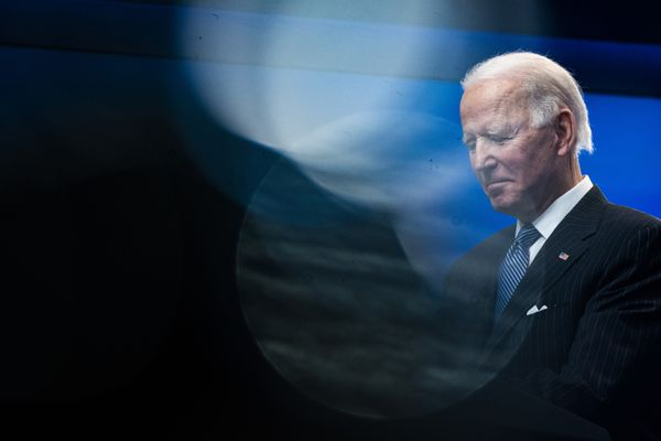President Joe Biden speaks about American manufacturing before signing an executive order in the South Court Auditorium on the White House complex on Monday, Jan 25, 2021 in Washington. Washington Post photo by Jabin Botsford