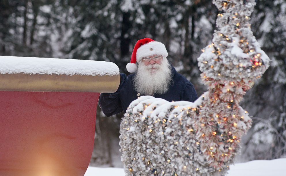 Santa Claus is photographed Sunday afternoon December 6, 2020 in North Pole, Alaska. (Photo by Eric Engman)