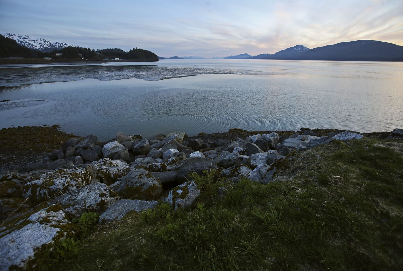 Orca Inlet, seen from Cordova's breakwater, on Tuesday, May 18, 2021. (Emily Mesner / ADN)