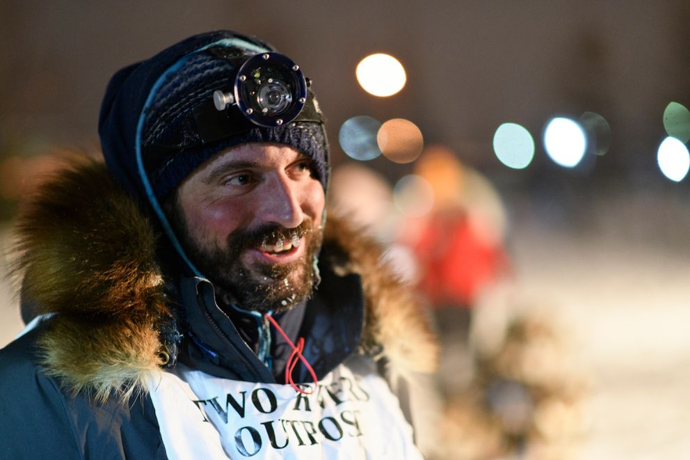 Cody Strathe finished the Yukon Quest International Sled Dog Race in 12th place on Feb. 13. (Marc Lester / ADN)