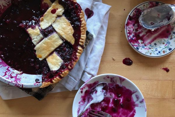 Blueberry pie. (Julia O'Malley / ADN)