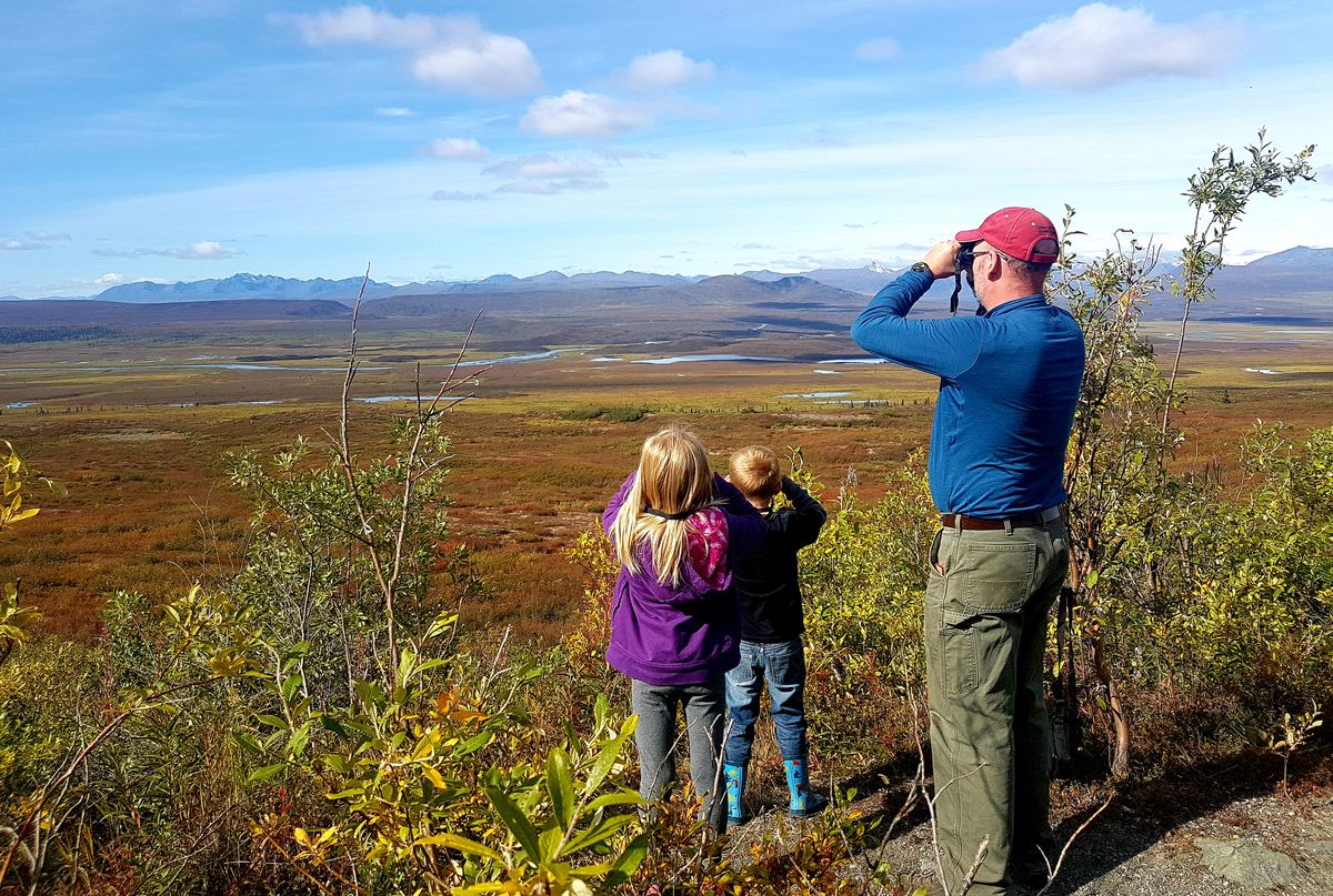 Denali Highway vistas are the perfect place to scope for wildlife. (Photo by Erin Kirkland)