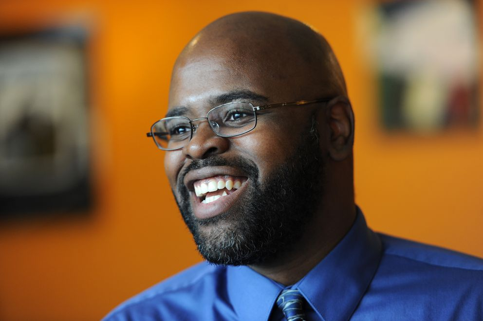 David Wilson is poised to be the first African-American from Mat-Su elected to thestate Senate. (Bill Roth / Alaska Dispatch News)