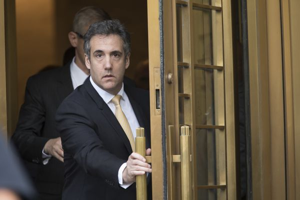 Michael Cohen leaves Federal court, Tuesday, Aug. 21, 2018, in New York. Cohen, has pleaded guilty to charges including campaign finance fraud stemming from hush money payments to porn actress Stormy Daniels and ex-Playboy model Karen McDougal. (AP Photo/Mary Altaffer)