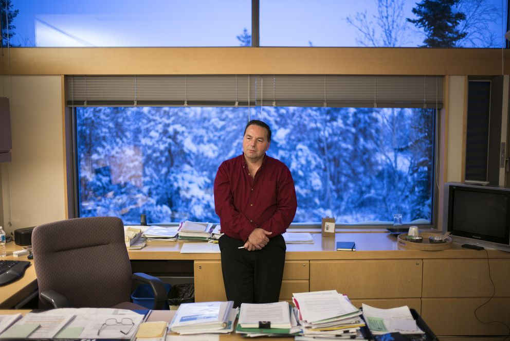 Wally Schumann, minister of infrastructure for the Northwest Territories in Canada, at his office in Yellowknife, Jan. 20, 2017. (Ian Willms/The New York Times)