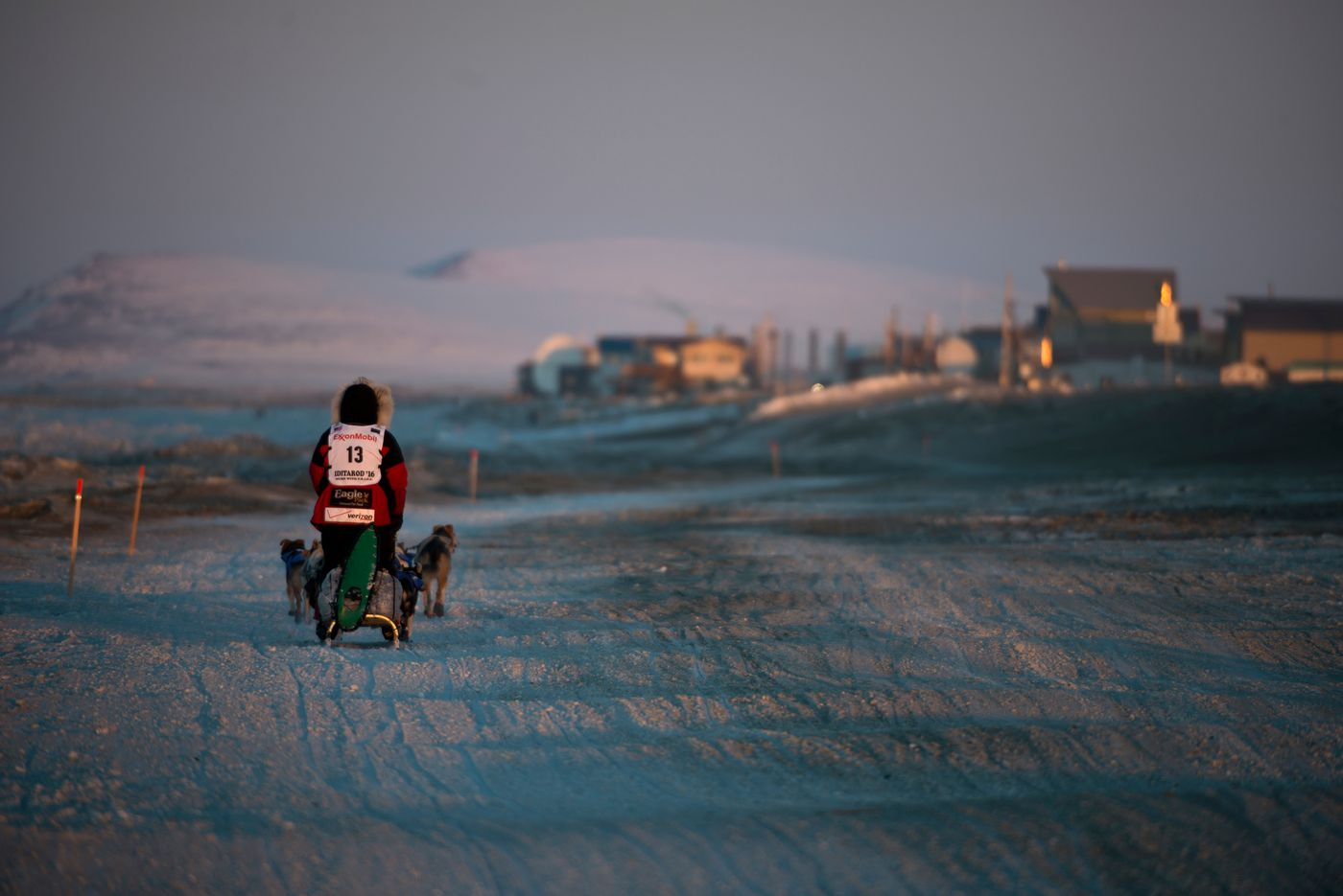 Aliy Zirkle arrived in Nome on March 15, 2016, and claimed third place in the Iditarod Trail Sled Dog Race. (Marc Lester / ADN archive)