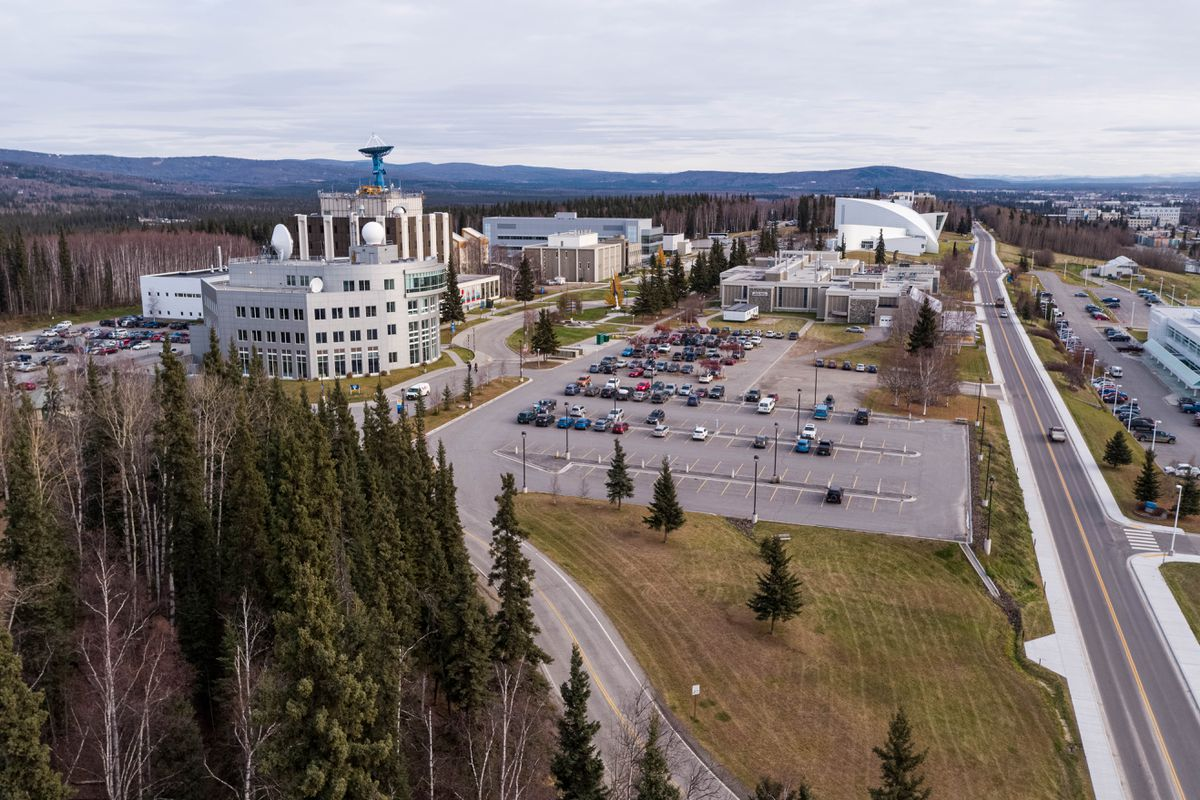 The University of Alaska Fairbanks campus, photographed Friday, Oct. 18, 2019. (Loren Holmes / ADN)