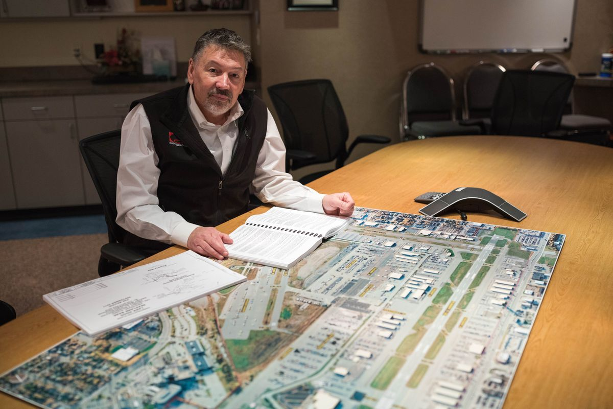 Mike Rabe, managing partner at CRW Engineering Group, in his office Wednesday. (Loren Holmes / ADN)