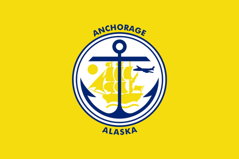 The Anchorage flag, designed by Joan Kimura.