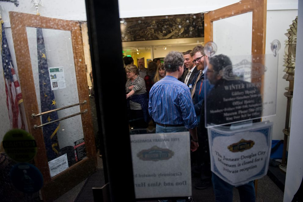 Olivia Garrett, a former legislative aide, said Rep. Dean Westlake, D-Kiana, made unwanted comments and physical contact with her atthisDemocratic fundraiser in January at the Juneau-Douglas City Museum. (Marc Lester / ADN)