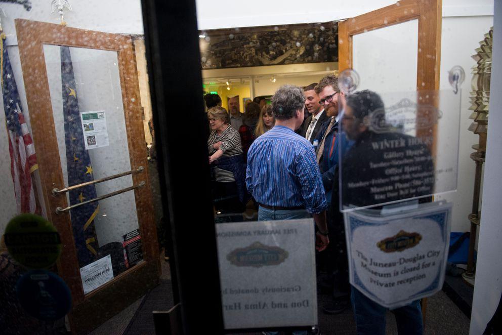 The Democrats held a fundraiser inside the Juneau-Douglas City Museum. (Marc Lester / Alaska Dispatch News)
