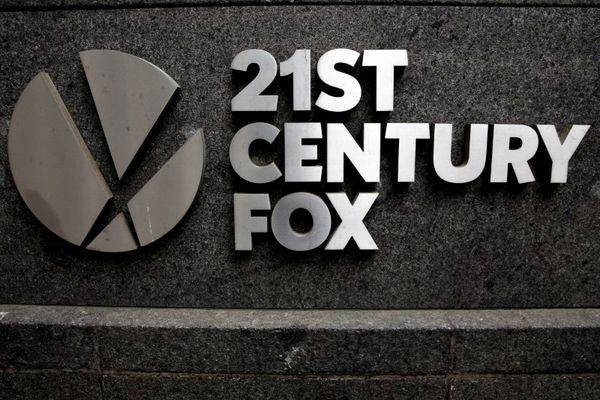 FILE PHOTO - The 21st Century Fox logo is seen outside the News Corporation headquarters in Manhattan, New York, U.S. on April 29, 2016. REUTERS/Brendan McDermid/File Photo
