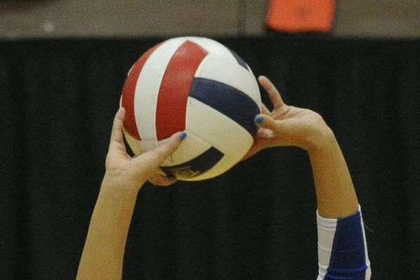 Bill Roth / Alaska Dispatch News Monroe defeated Grace during the first-round of the state high school 3A volleyball tournament at UAA on Thursday, Nov. 13, 2014.