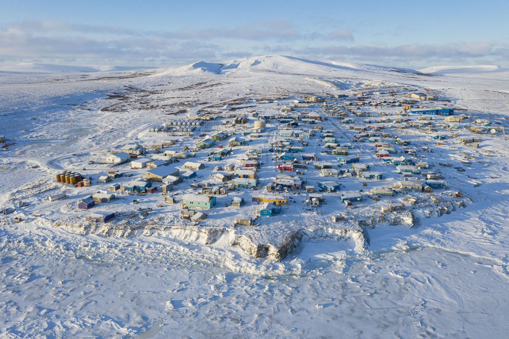This December 2019 photo shows Toksook Bay, Alaska. The 2020 census in the U.S. begins Tuesday, Jan. 21, 2020, in this tiny community in Alaska. It has started in rural Alaska ever since the U.S. purchased the territory from Russia in 1867. This year, the first people will be counted in Toksook Bay, a city of 661 on the Bering Sea. (Matt Hage/AP Images for U.S. Census Bureau)