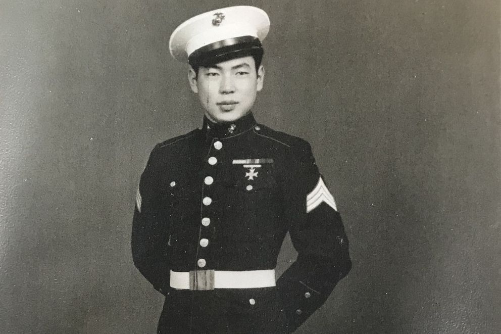 Firmin Murakami, 92, was sent to a Japanese-American internment camp in Jerome, Arkansas, during WWII, which later became a holding camp for German prisoners of war. Murakami joined the U.S. Marine Corps and was told he was the only Marine of Japanese descent at the time. (Bill Roth / ADN)