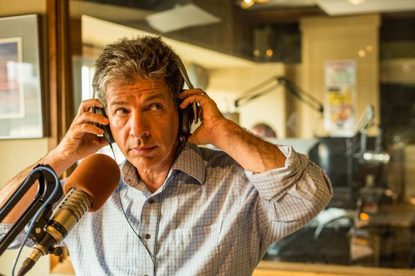 OPINION: A solid track record and the ahibility to hear other views make Ethan Berkowitz the best of a fine field seeking to be mayor of Anchorage. Pictured: Berkowitz on the KFQD radio talk show he shared with Bernadette Wilson, which he gave up after his decision to run for mayor.