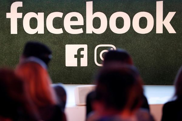 FILE PHOTO: A Facebook logo is seen at the Facebook Gather conference in Brussels, Belgium January 23, 2018. REUTERS/Yves Herman/File Photo