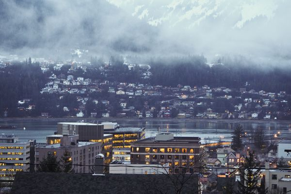 A view of downtown Juneau, Alaska, and the Capitol on January 17, 2017. (Marc Lester / Alaska Dispatch News)