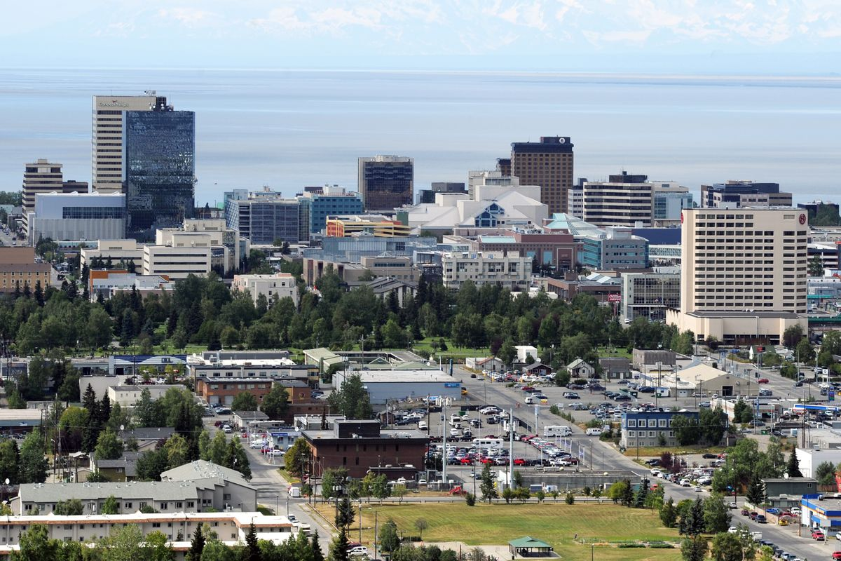 Downtown Anchorage. (Erik Hill / ADN file photo, 2016)