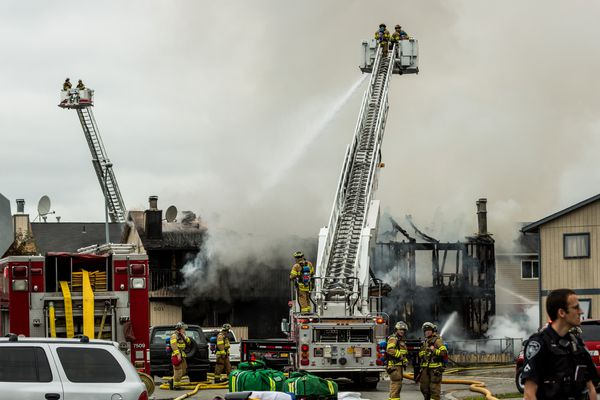 OPINION: Anchorage residents can help keep Anchorage safe by repealing AO 37 and keeping our city's well-trained safety forces intact.PICTURED: Firefighters battle a two-alarm structure fire at a 4-plex in east Anchorage. The building was a total loss. July 15, 2013