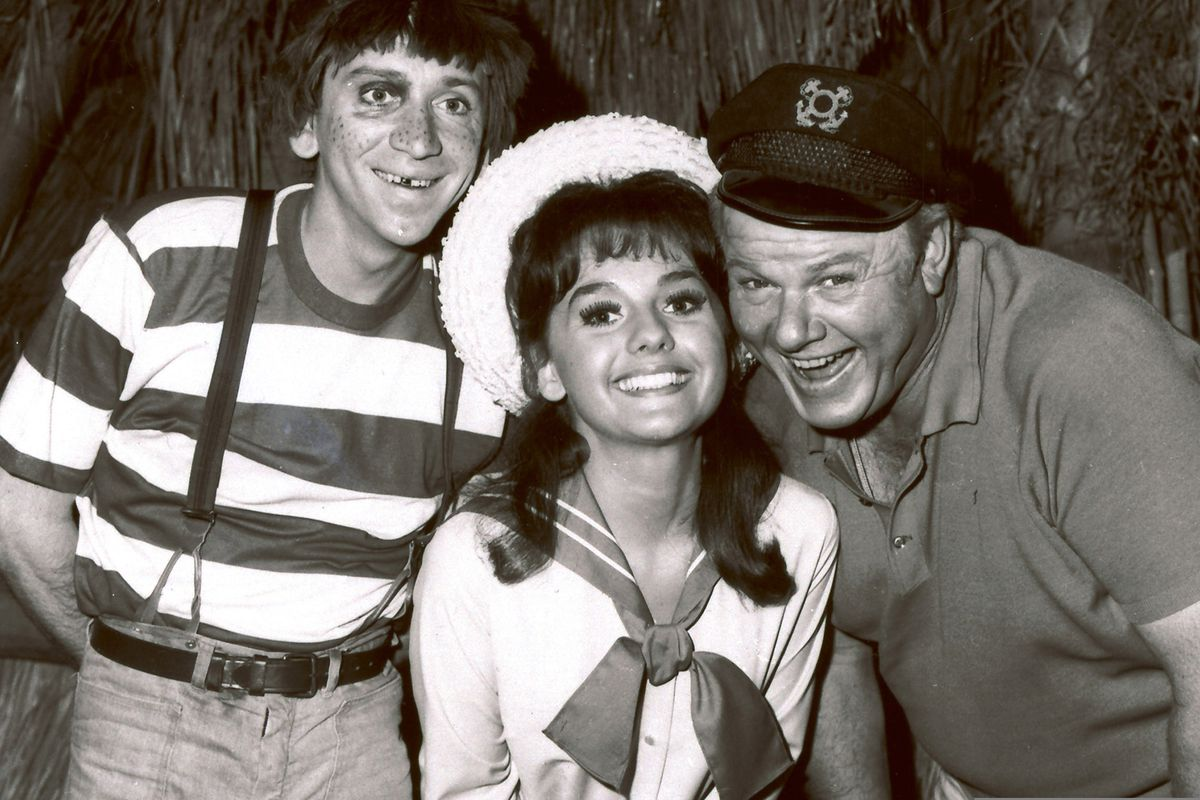 In this 1965 photo, Dawn Wells poses with fellow cast members of
