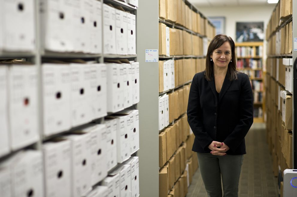 Karina Waller is executive director of the Ted Stevens Foundation, headquartered in Midtown Anchorage. (Marc Lester / ADN)
