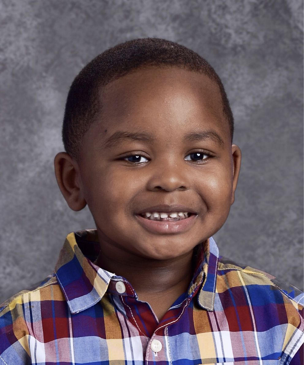 Christan Johnson is seen in his school picture taken this fall. He was a kindergartner at Tyson Elementary. (Courtesy of House-Johnnson family)