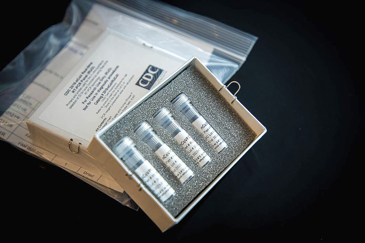 This undated photo provided by U.S. Centers for Disease Control and Prevention shows CDC's laboratory test kit for the new coronavirus. (CDC via AP)