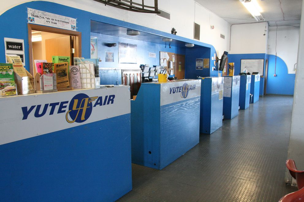 Yute Air's terminal in Bethel standsemptyon Monday. The small carrier announced it was closing over the weekend. (Lisa Demer / Alaska Dispatch News)