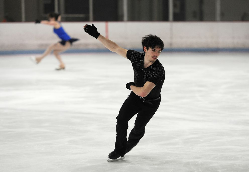 Keegan Messing practices at the Subway Sports Centre. (Bill Roth / ADN)