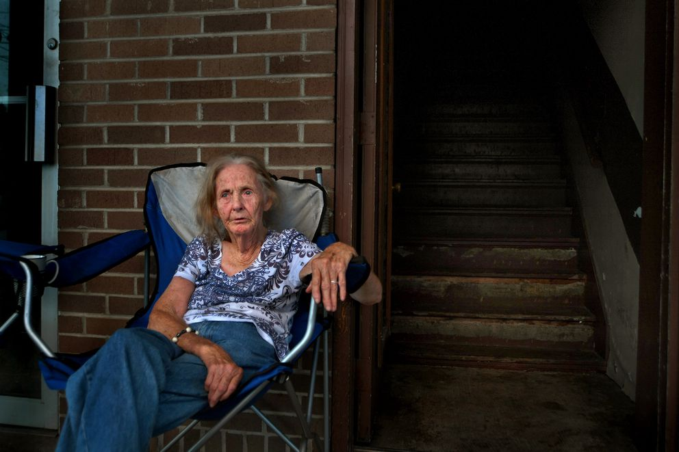 Stella Minnion, 87, says she's aware of the opioid problem around Booneville, Ky., but says it seems to her to be confined to younger people: 'Us old people don't mess around with that sort of thing. ' (Washington Post photo by Michael S. Williamson)