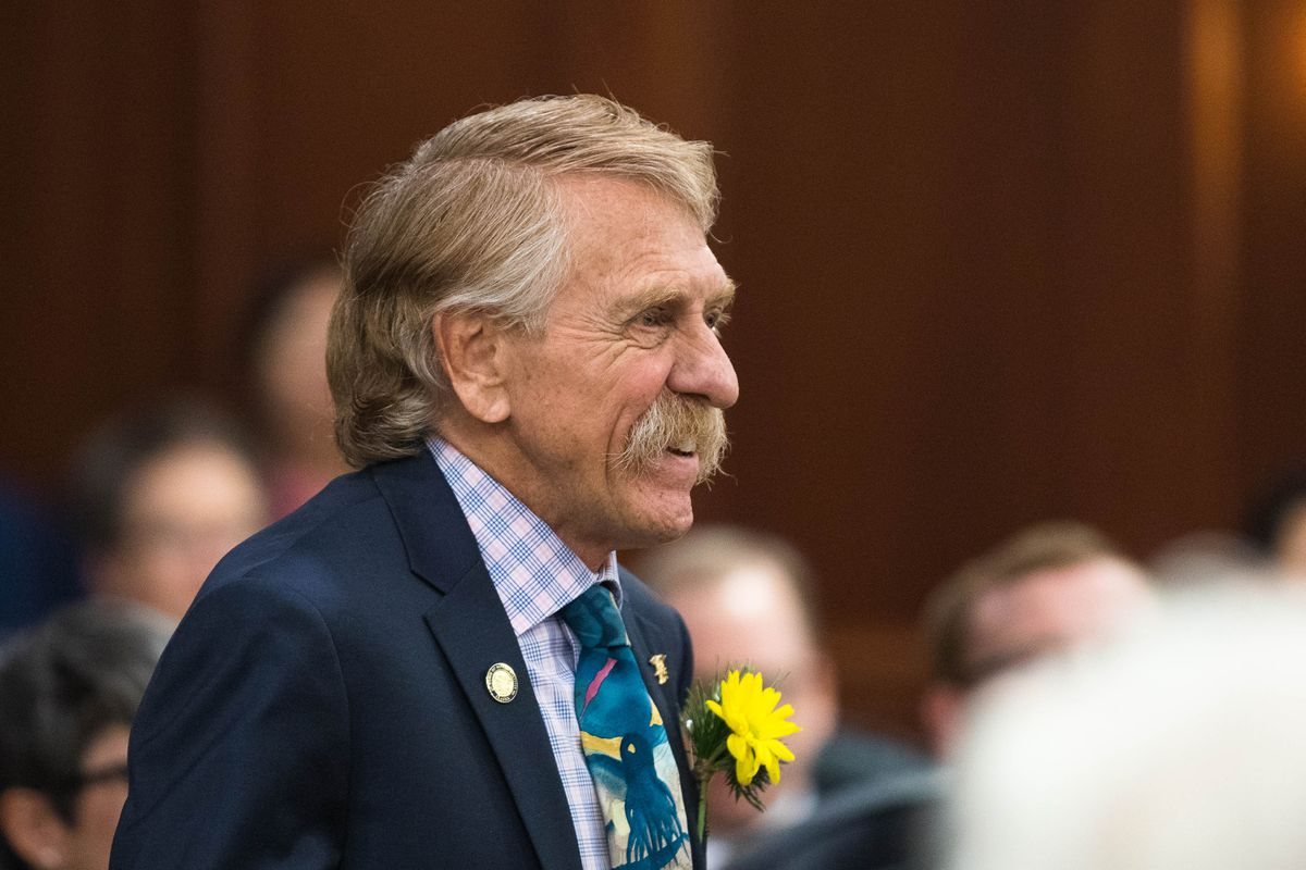 Rep. Laddie Shaw, R-Anchorage, on the first day of the legislative session on Tuesday, Jan. 15, 2019 at the Alaska State Capitol in Juneau. (Loren Holmes / ADN)