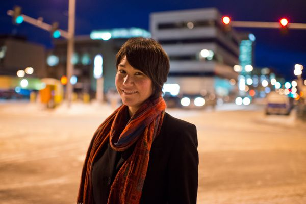 Poet Joan Kane lives in Anchorage. Photographed on February 16, 2017. (Marc Lester / Alaska Dispatch News)