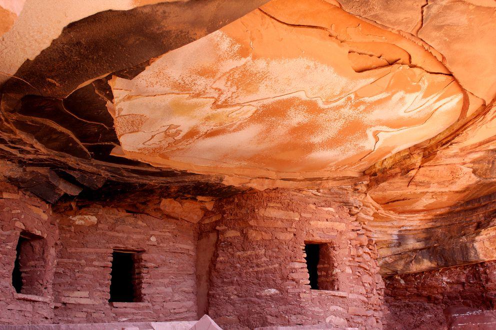 The Fallen Roof granaries, are part of Utah's Bears Ears region. (Washington Post photo by Juliet Eilperin)