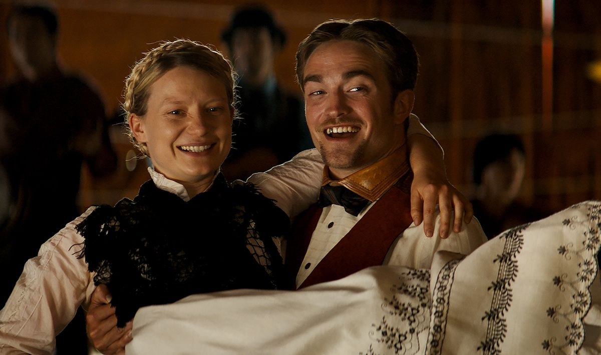 "Mia Wasikowska and Robert Pattinson star in ""Damsel,"" a contemporary, funny take on Western tropes. (Magnolia Pictures)"
