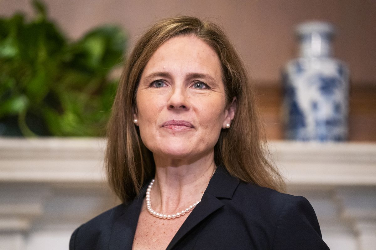Supreme Court nominee Amy Coney Barrett, photographed Wednesday, Oct. 21, 2020, on Capitol Hill in Washington. (Jim Lo Scalzo/Pool via AP)