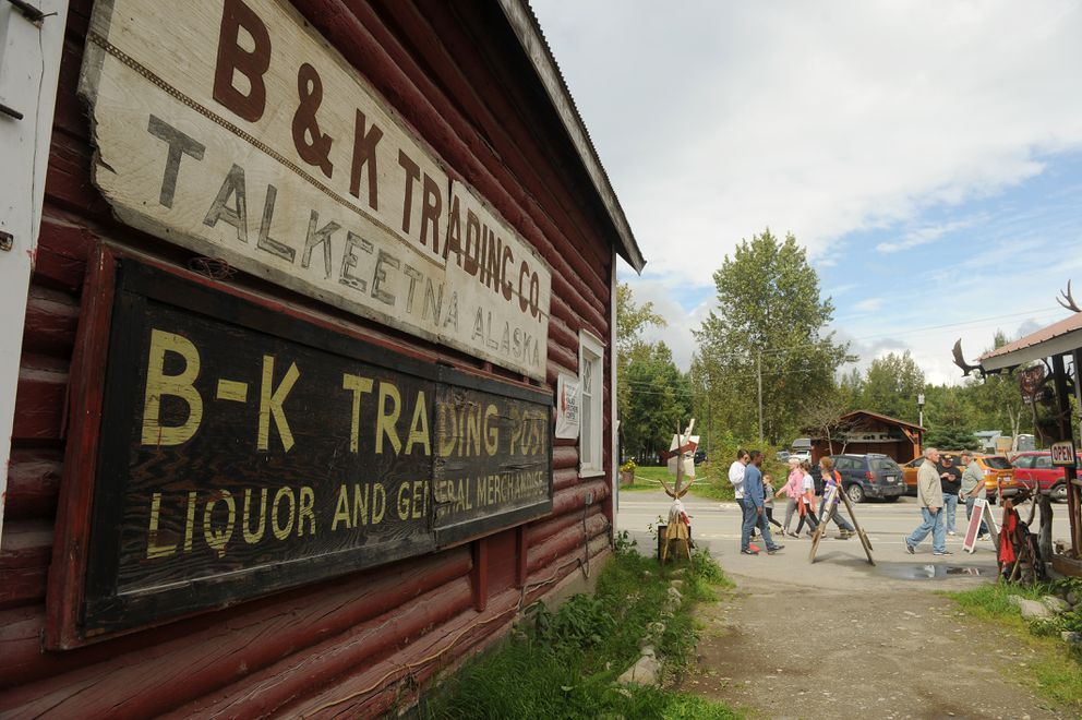 Tourists pass by Nagley's Store in Talkeetna on August 10, 2016. The store was previously called B & K Trading Co. (Bob Hallinen / ADN archive)