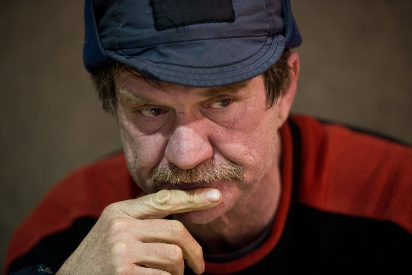 Allen Moore in Nikolai during the Iditarod on March 8, 2016. (Marc Lester / ADN archive)