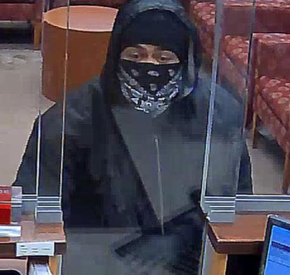 Suspect in a bank robbery in East Anchorage, Dec. 4, 2019. (FBI)