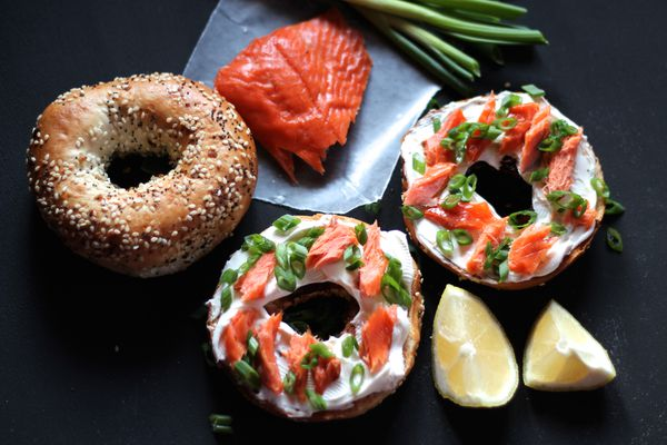 Bagels and lox get an Alaska touch for the holidays.