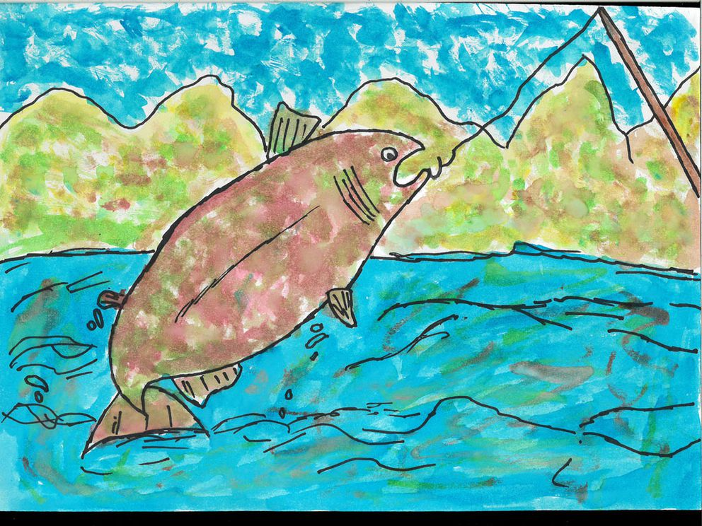 Cambryn McKay, fourth grade, was the winner of the Alaska Fish Heritage contest in 2019. (Courtesy of Wildlife Forever)