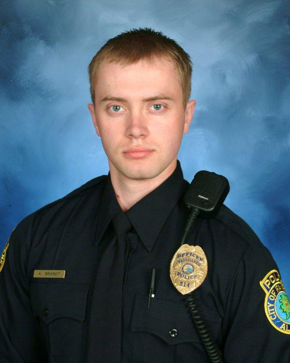 Fairbanks police officer Allen Brandt was shot in the line of duty Sunday. (Fairbanks Police Department)