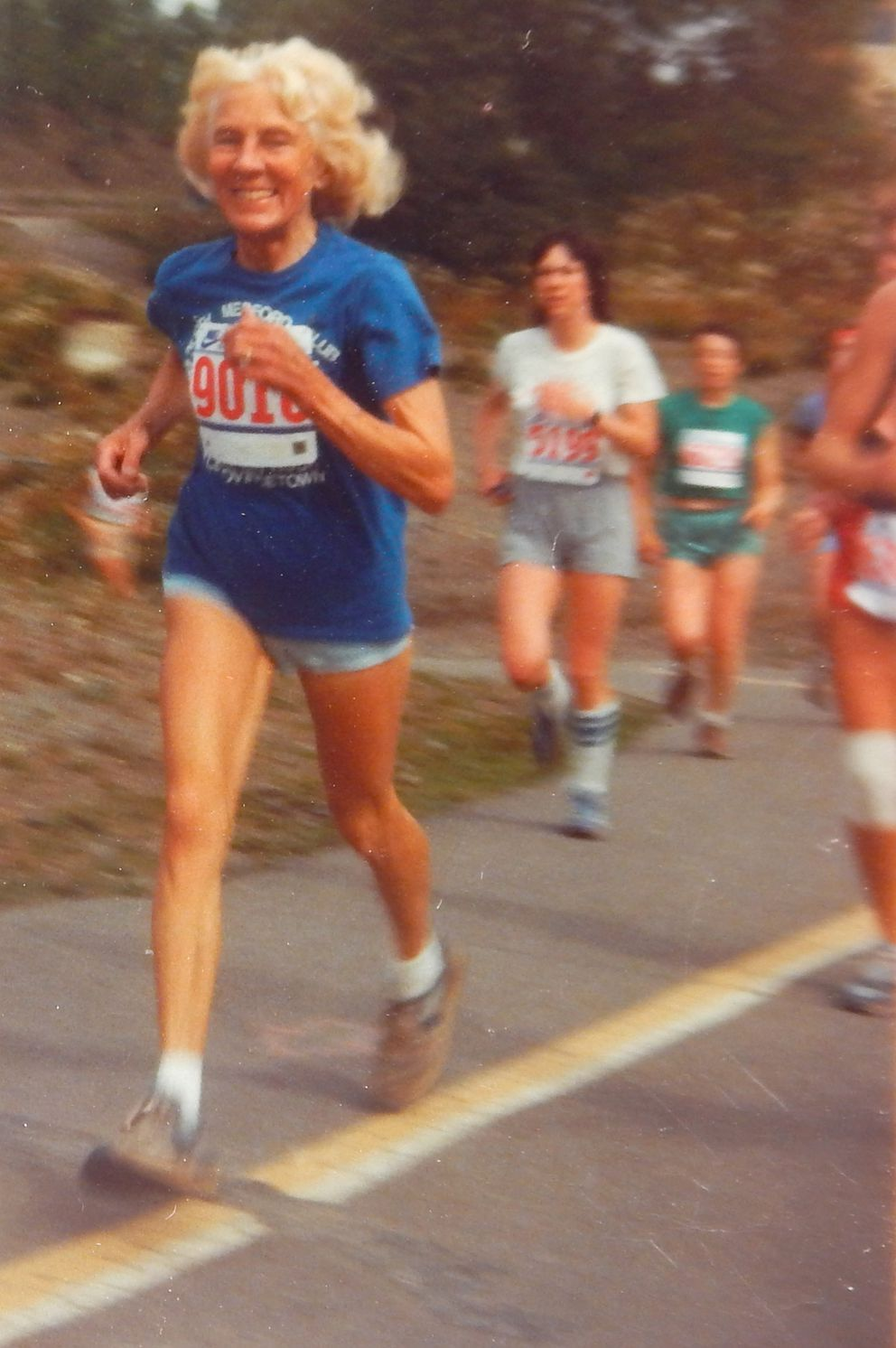 Marcie Trent runs in the Glacier Marathon and Half Marathon, which was renamed the Trent Waldron Half Marathon after Trent and her son, Larry Waldron, were killed by a bear in 1995. (Photo courtesy of Janice Waldron)