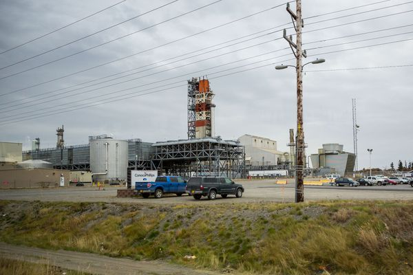ConocoPhillips operates an existing 45-year-old natural gas liquefaction plant in Nikiski, near where Alaska LNG wants to build a much larger plant. October 9, 2014.